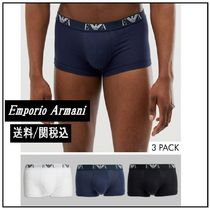 EMPORIO ARMANI Cotton Logo Trunks & Boxers