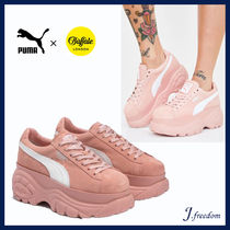 PUMA Platform Round Toe Lace-up Casual Style Suede Street Style