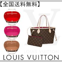 Louis Vuitton Monogram Casual Style Street Style A4 Leather Totes