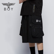BOY LONDON Unisex Street Style Cotton Cargo Shorts