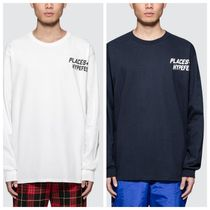 PLACES+FACES Crew Neck Unisex Street Style Long Sleeves Oversized