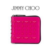 Jimmy Choo Star Studded Leather Folding Wallets