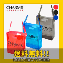 Charm's Unisex Crystal Clear Bags PVC Clothing Shoulder Bags