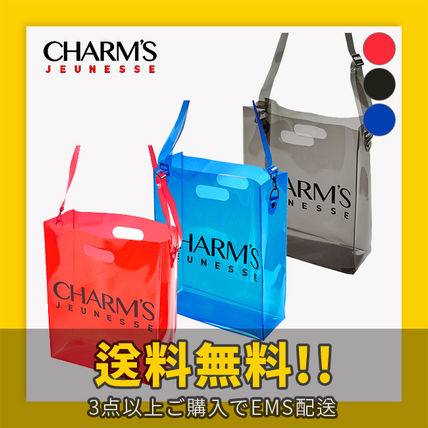 Unisex Crystal Clear Bags PVC Clothing Shoulder Bags