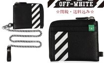 Off-White Street Style Chain Leather Coin Cases