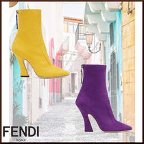 FENDI Casual Style Plain Ankle & Booties Boots