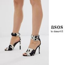 ASOS Open Toe Other Animal Patterns Leather Pin Heels