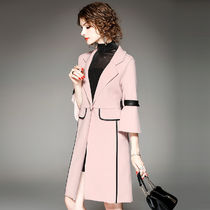 Bi-color Long Party Style Chester Coats