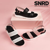 paperplanes Round Toe Rubber Sole Casual Style Faux Fur Sport Sandals