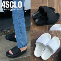 ASCLO Street Style Plain Leather Sandals