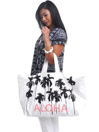 Tropical Patterns Casual Style Totes