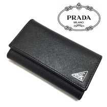 PRADA Saffiano Leather Keychains & Holders
