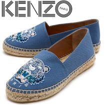 KENZO Wedge Other Animal Patterns Leather Slip-On Shoes