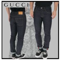 GUCCI Stripes Unisex Plain Cotton Jeans & Denim