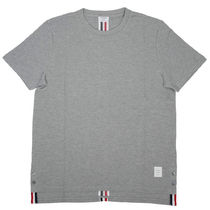 THOM BROWNE Crew Neck Street Style Plain Cotton Short Sleeves