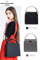 Paul's Boutique Studded Street Style 2WAY Plain Office Style Shoulder Bags