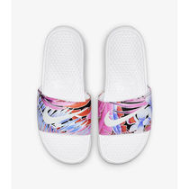 Nike BENASSI Flower Patterns Casual Style Unisex Sport Sandals Logo