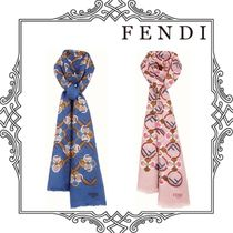 FENDI Cashmere Street Style Elegant Style Accessories