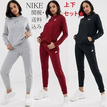 Nike Casual Style Street Style Long Sleeves Plain Cotton Dresses
