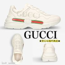 GUCCI Unisex Street Style Leather Sneakers