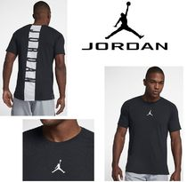 Nike AIR JORDAN Street Style U-Neck Plain Short Sleeves T-Shirts