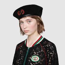 GUCCI Unisex Street Style Beret & Huting