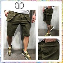 Gentleman To Be Denim Street Style Cargo Shorts
