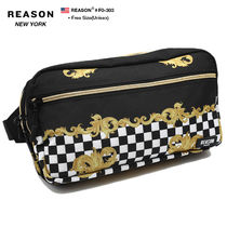 REASON Flower Patterns Unisex Nylon Street Style Bi-color Chain