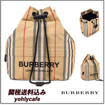 Burberry Stripes Casual Style Purses Shoulder Bags