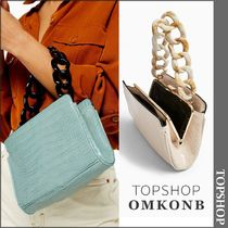 TOPSHOP Casual Style Faux Fur Other Animal Patterns Handbags