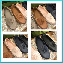Tory Burch Casual Style Plain Leather Loafer Pumps & Mules