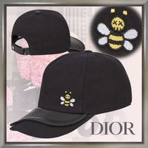 Christian Dior Unisex Blended Fabrics Street Style Collaboration Caps