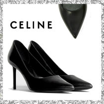 CELINE Square Toe Leather Pin Heels Stiletto Pumps & Mules