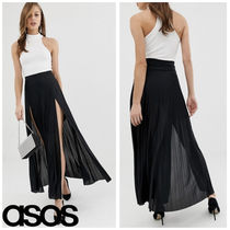 ASOS Pleated Skirts Plain Long Home Party Ideas Elegant Style