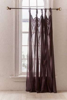 Urban Outfitters Flower Patterns Street Style Collaboration Plain Curtains