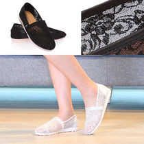 paperplanes Flower Patterns Round Toe Rubber Sole Casual Style