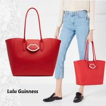 Lulu Guinness Casual Style Faux Fur A4 Totes