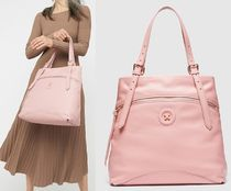 MIMCO Casual Style Tassel Studded A4 Plain Leather Office Style