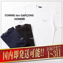 COMME des GARCONS Crew Neck Plain Short Sleeves Logo Designers
