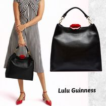 Lulu Guinness Plain Leather Elegant Style Totes