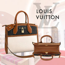 Louis Vuitton CITY STEAMER Leather Shoulder Bags
