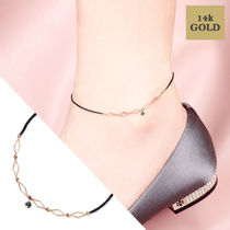 Collaboration Office Style 14K Gold Anklets