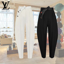 Louis Vuitton Silk Long Oversized Wide Leg Pants