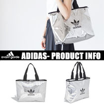 adidas Casual Style Unisex Street Style A4 Plain PVC Clothing Totes