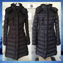 MONCLER HERMINE Nylon Long Down Jackets