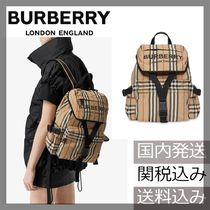 Burberry London Other Check Patterns Nylon Backpacks