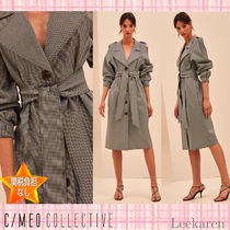 Cameo the Label Gingham Long Elegant Style Trench Coats