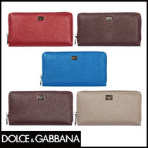 Dolce & Gabbana Plain Long Wallets