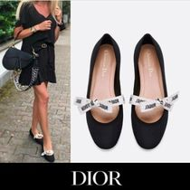 Christian Dior JADIOR Bi-color Plain Ballet Shoes