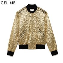 CELINE Short Nylon Bi-color Souvenir Jackets